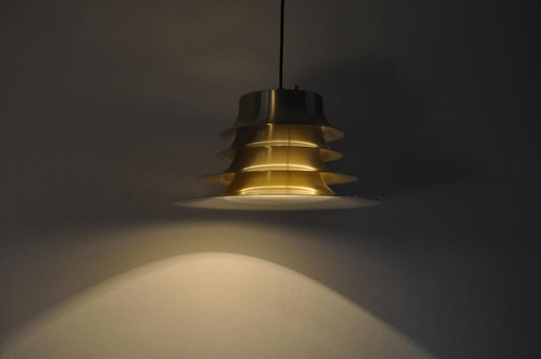 Classic Danish Multilayered Pendant Light in Brass For Sale 2