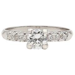 Classic Diamond and Platinum Engagement Ring