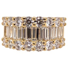 Classic Diamond Band in 18 Karat Yellow Gold