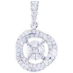 Classic Diamond Chain Necklace in 18 Karat White Gold