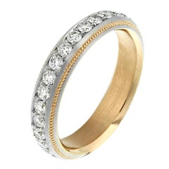 Classic Diamond Eternity Band in Platinum and Rose Gold