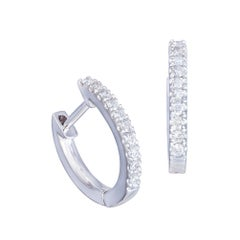 Classic Diamond Lever-Back Earring 18k White Gold Diamond for Her