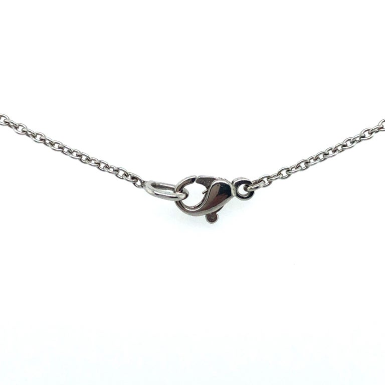 Classic Diamond Necklace in 18 Karat White Gold For Sale 4