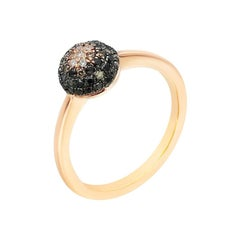 Classic Diamond Pink Gold Ring