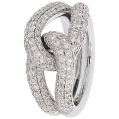 Classic Diamond Ring Manufactured in White Gold