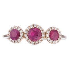 Classic Diamond Ruby Yellow Gold Ring