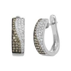 Classic Diamond White Gold Earrings
