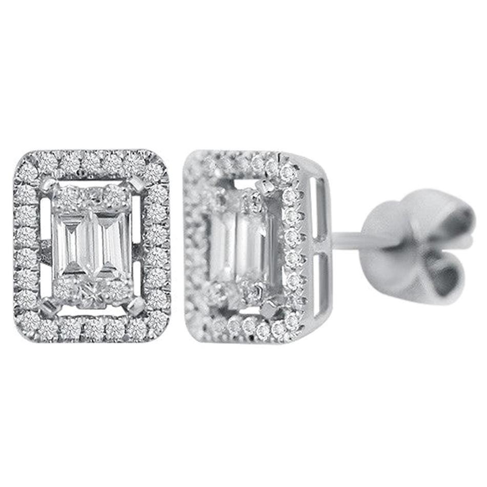 Classic Diamond White Gold Stud Earrings
