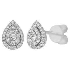 Classic Diamond White Gold Stud Earrings