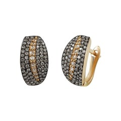 Classic Diamond Yellow Gold Earrings