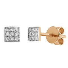 Classic Diamond Yellow Gold Earrings