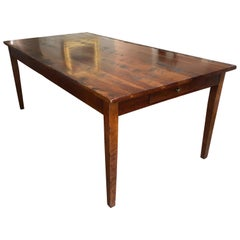 Classic Distressed Hard Wood Farm Table by Wright Table Company