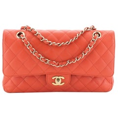 Classic Double Flap Bag Quilted Caviar Medium