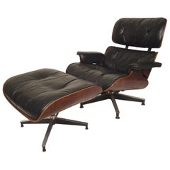 Classic Eames Chair and Ottoman for Herman Miller