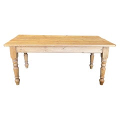 Classic Early 20th Century British Scrubbed Pine Farm Table