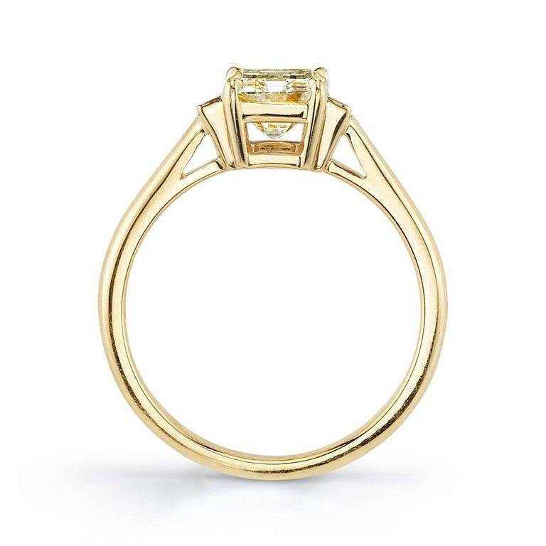 Art Deco Classic Emerald Cut Three-Stone Ring For Sale