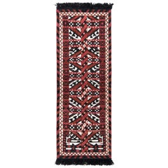 Classic Ersari Style Custom Rug in Red and White All-Over Pattern by Rug & Kilim