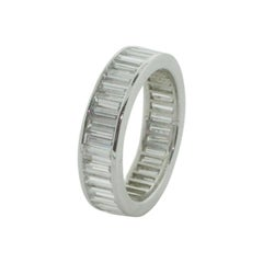 Classic Eternity Baguette Diamond Ring in Platinum