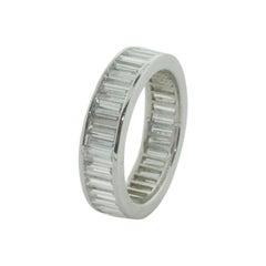 Classic Eternity Baguette Diamond Ring in Platinum