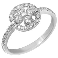 Classic Fancy Diamond White Gold Ring