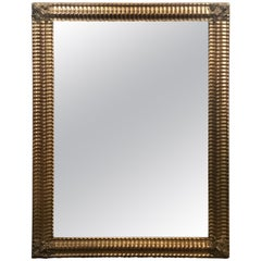 Classic Fine 19th Century French Water Gilt Mirror