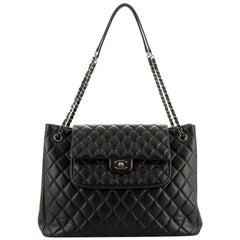 Classic Flap Shopping Tote Quilted Lambskin Large