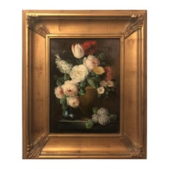 Classic Flower Still Life Painting Framed