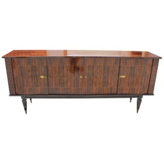 Classic French Art Deco Exotic Macassar Bony Sideboard or Buffet, circa 1940s