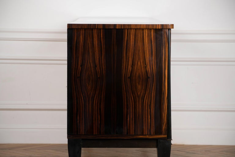 Classic French Art Deco Macassar Ebony Sideboard or Buffet For Sale 7