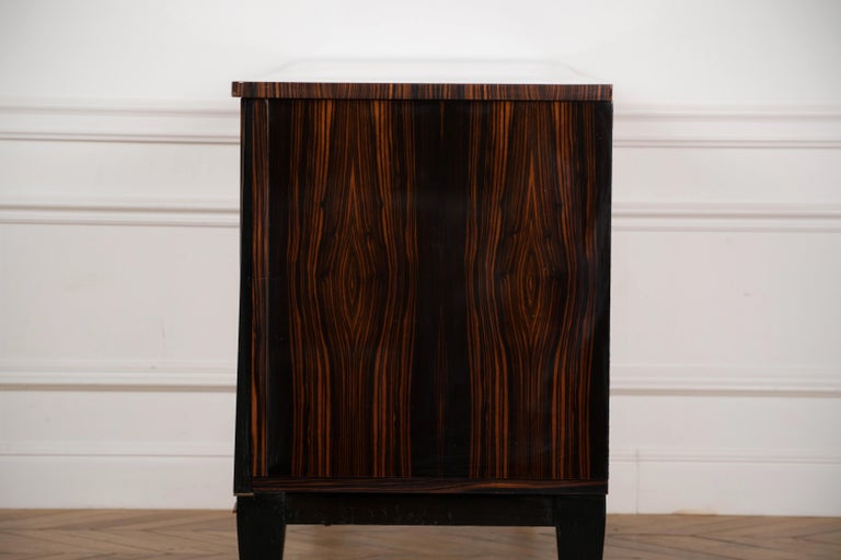 Classic French Art Deco Macassar Ebony Sideboard or Buffet For Sale 8