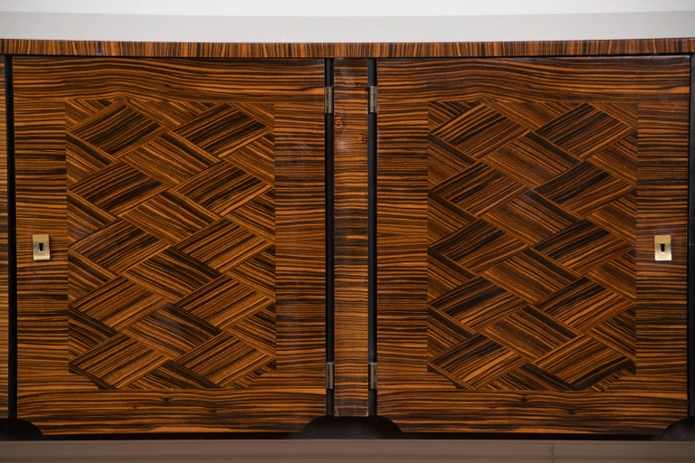 Classic French Art Deco Macassar Ebony Sideboard or Buffet For Sale 9