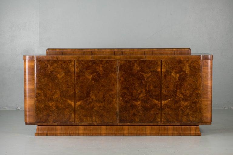 Veneer Large & Luxurious French Art Deco Buffet, 1930s