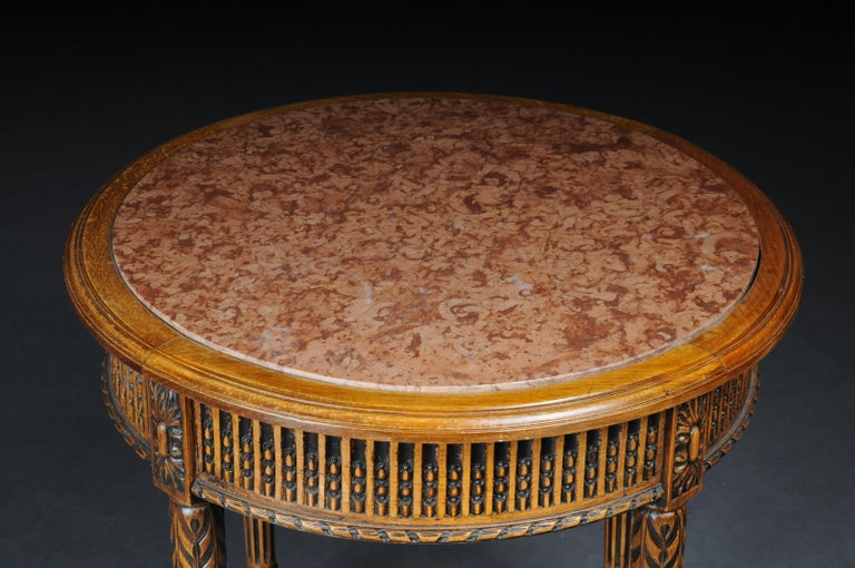 20th Century Classic French Side Table in Louis XVI, Beechwood For Sale