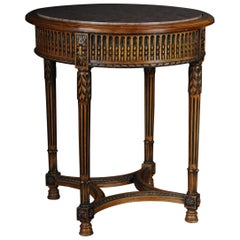 Classic French Side Table in Louis XVI, Beechwood