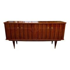 Classic French Vintage Modern Macassar Ebony Buffet or Sideboard