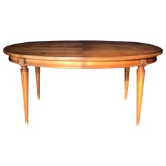 Classic French Walnut Louis XVI Style Dining Table