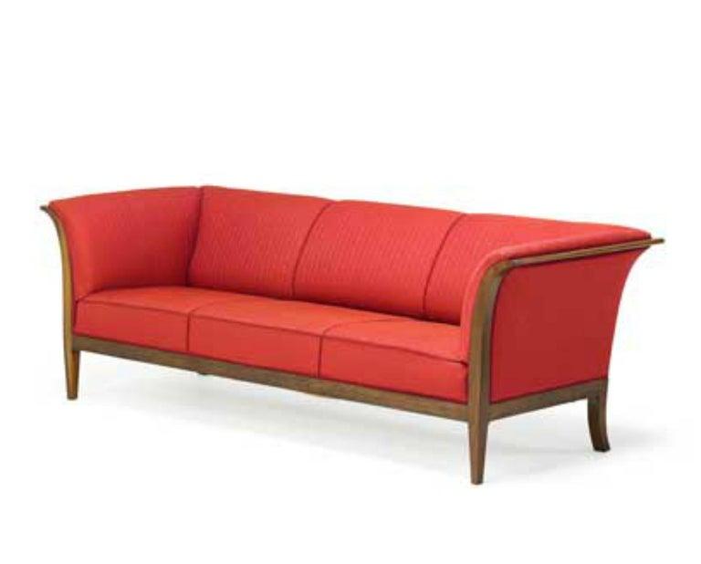 Classic Frits Henningsen Sofa in Cuban Mahogany Danish Midcentury ...