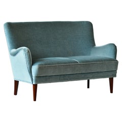 Classic Frits Henningsen Style Settee or Loveseat Danish Midcentury