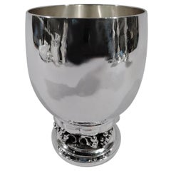 Classic Georg Jensen Danish Sterling Silver Grape Goblet