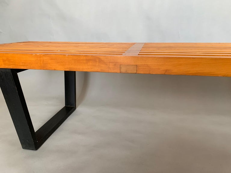 Maple Classic George Nelson For Herman Miller Original Bench, 1950s For Sale