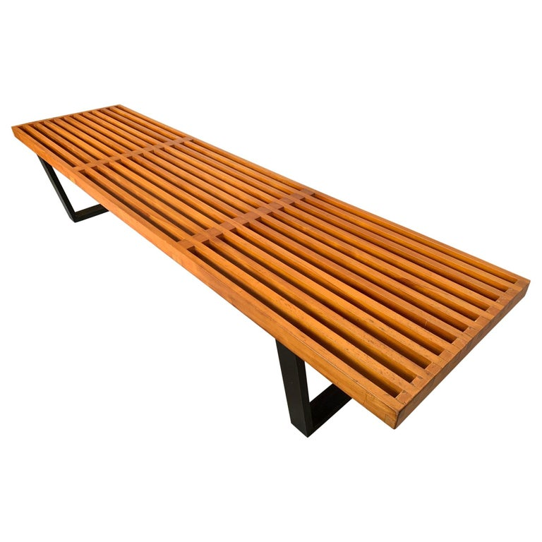 Classic George Nelson For Herman Miller Original Bench, 1950s For Sale