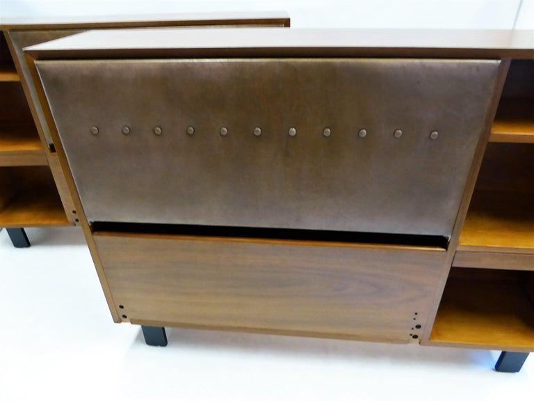 Classic George Nelson Walnut King Headboard Cabinet For Sale 3