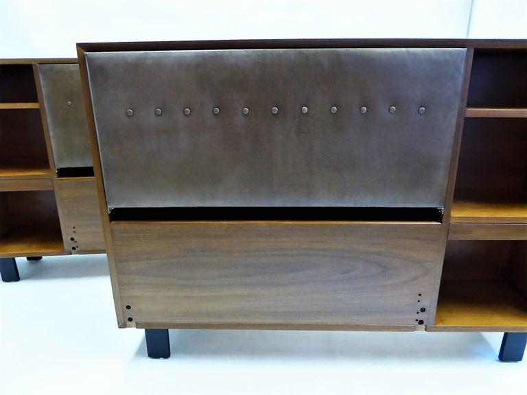 Classic George Nelson Walnut King Headboard Cabinet For Sale 4