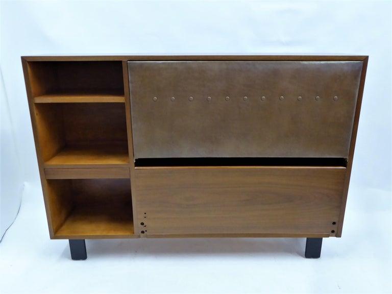Classic George Nelson Walnut King Headboard Cabinet For Sale 5