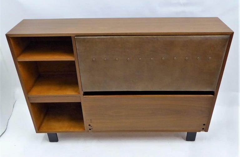 Classic George Nelson Walnut King Headboard Cabinet For Sale 6