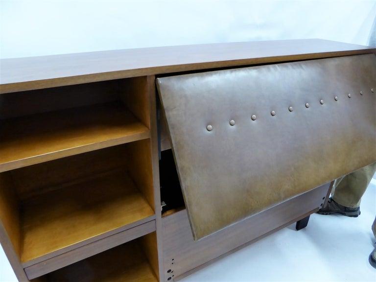 Classic George Nelson Walnut King Headboard Cabinet For Sale 7