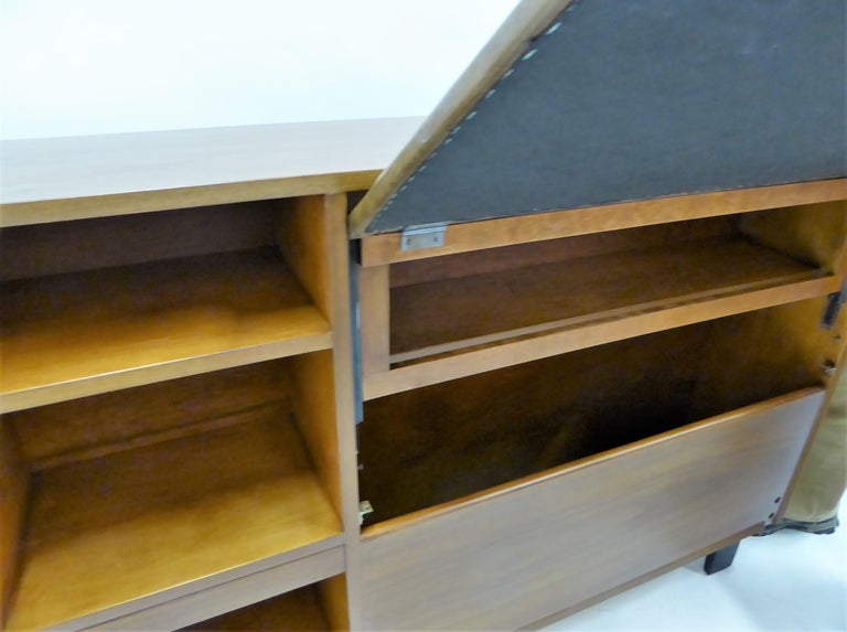 Classic George Nelson Walnut King Headboard Cabinet For Sale 8