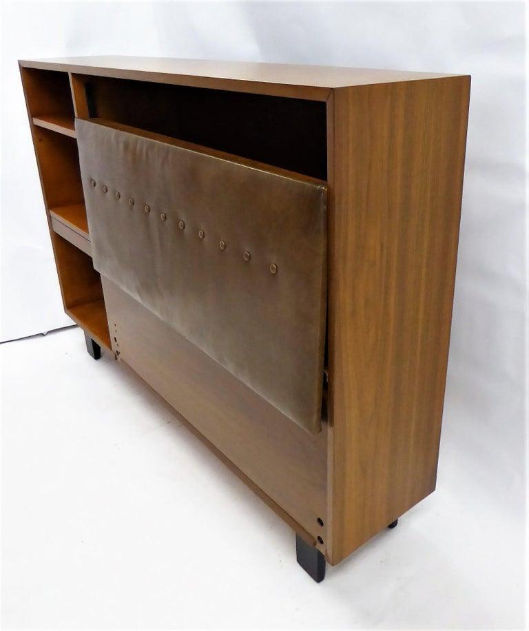 Classic George Nelson Walnut King Headboard Cabinet For Sale 9