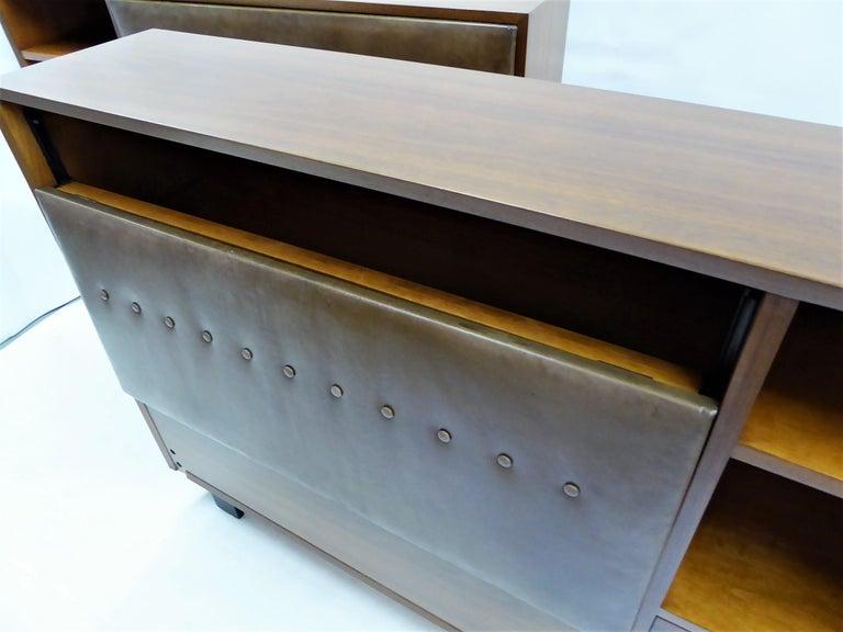 Classic George Nelson Walnut King Headboard Cabinet For Sale 2