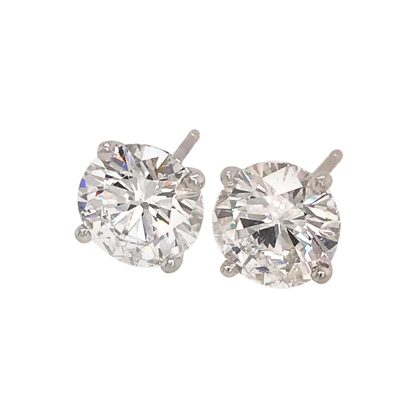 Classic GIA Certified Round Brilliant Diamond Studs Earrings